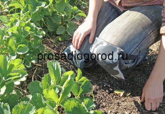 наколенники для огорода своими руками