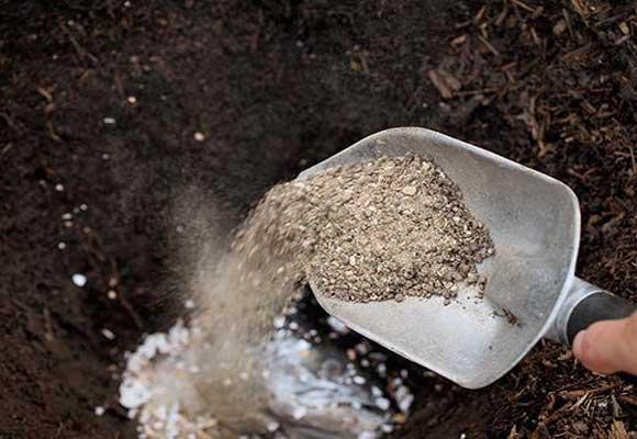 зола на лопате