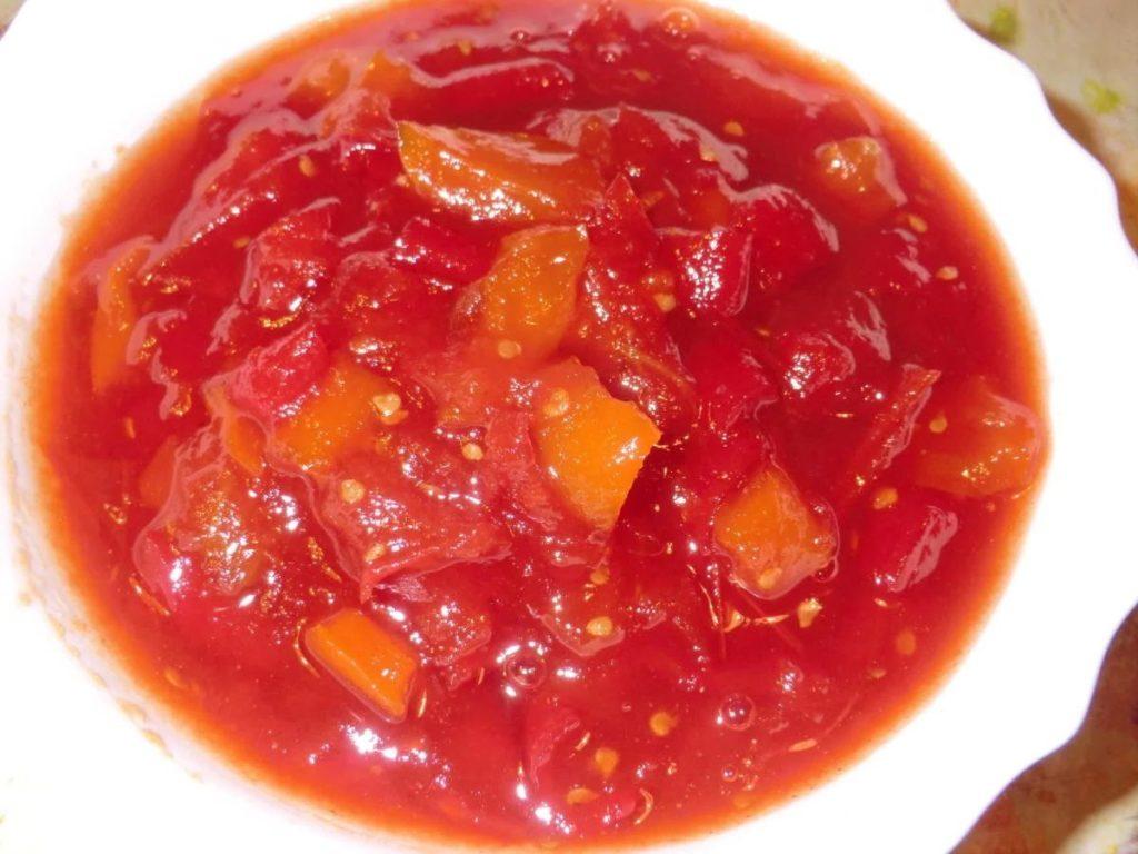 Варенье из красных помидоров с болгарским перцем
