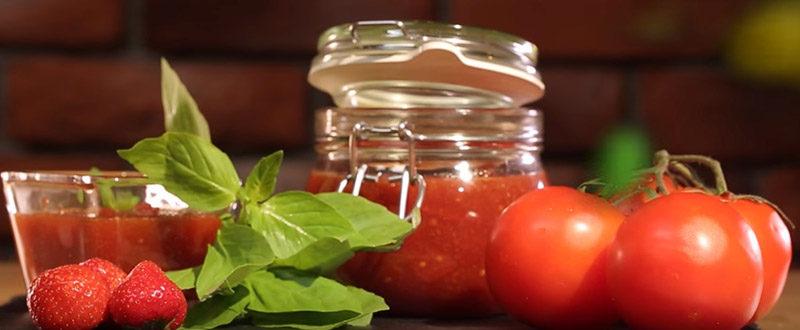 варенье из помидор клубники и базилика